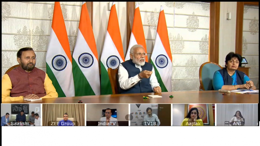 PM interacted with Representatives of Electronic Media on issues related to COVID19 through video conferencing on 23rd March, 2020.