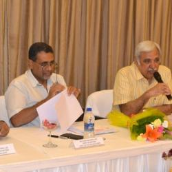 The Secretary, Ministry of Information and Broadcasting, Shri Sunil Arora at the review meeting in connection with 19th International Children s Film Festival, in Hyderabad on September 18, 2015.