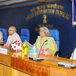 The Additional Secretary, Ministry of Information and Broadcasting, Ms. Jayashree Mukherjee and other dignitaries at a function